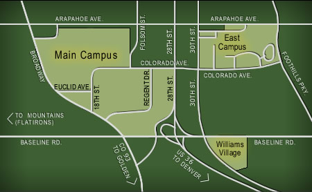cu campus map pdf Campus Map University Of Colorado At Boulder cu campus map pdf
